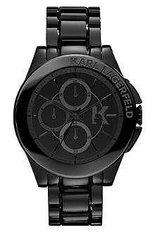 KARL LAGERFELD WATCHES KL1401 stainless steel unisex chronograph watch