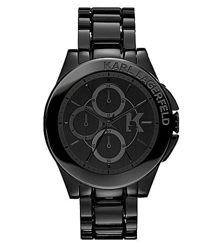 KARL LAGERFELD WATCHES KL1401 stainless steel unisex chronograph watch (Black