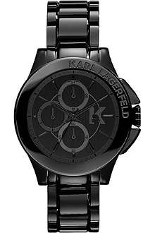 KARL LAGERFELD WATCHES KL1402 stainless steel chronograph watch