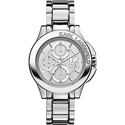KARL LAGERFELD WATCHES KL1404 stainless steel unisex chronograph watch (Silver