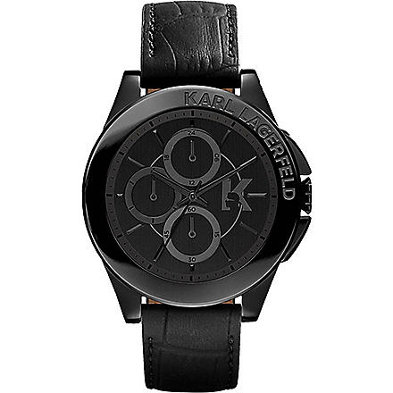 KARL LAGERFELD WATCHES Kl1406 stainless steel unisex chronograph watch (Black