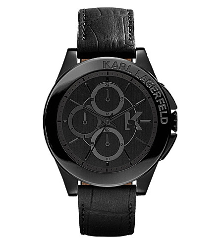 KARL LAGERFELD WATCHES Kl1406 stainless steel unisex chronograph watch (Black