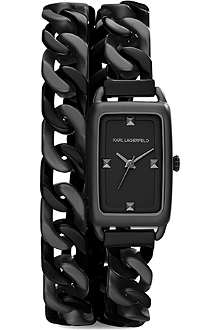 KARL LAGERFELD WATCHES KL1807 black stainless steel watch
