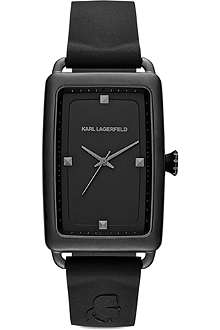 KARL LAGERFELD WATCHES KL1808 black stainless steel and silicone watch