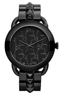 KARL LAGERFELD WATCHES KL2201 round polished stainless steel watch
