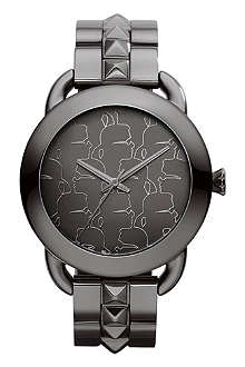 KARL LAGERFELD WATCHES KL2202 round polished stainless steel watch