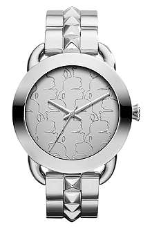 KARL LAGERFELD WATCHES KL2203 round polished stainless steel watch