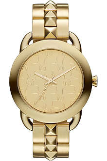KARL LAGERFELD WATCHES KL2204 round gold-toned stainless steel watch