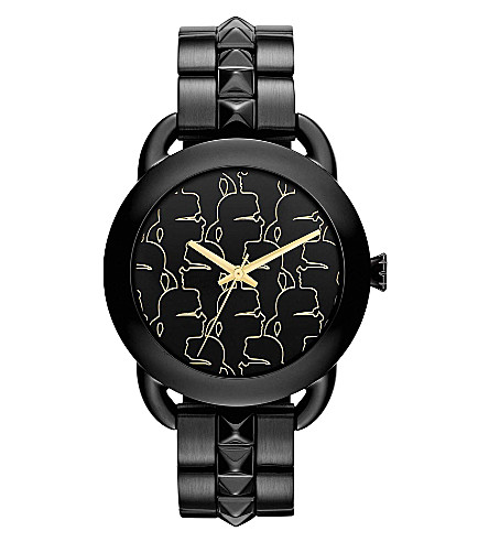 KARL LAGERFELD WATCHES KL2205 round polished stainless steel watch