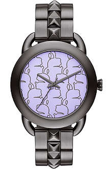 KARL LAGERFELD WATCHES KL2206 round gunmetal watch