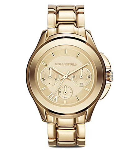 KARL LAGERFELD WATCHES KL2404 stainless steel unisex chronograph watch (Gold