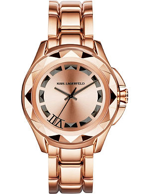 KARL LAGERFELD WATCHES Kl2408 rose gold-toned watch