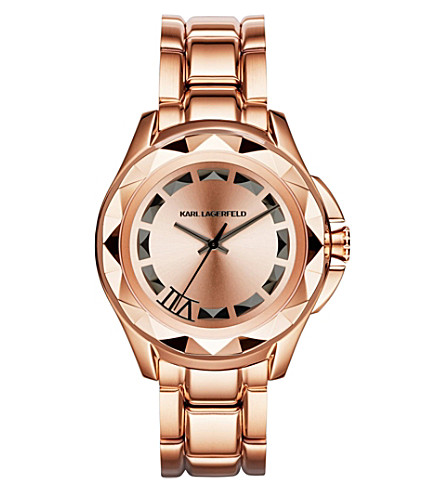 KARL LAGERFELD WATCHES Kl2408 rose gold-toned watch (Rose gold