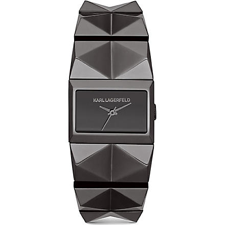 KARL LAGERFELD WATCHES KL2602 stainless steel unisex watch (Gray