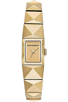 KARL LAGERFELD WATCHES KL2609 gold-toned stainless steel watch