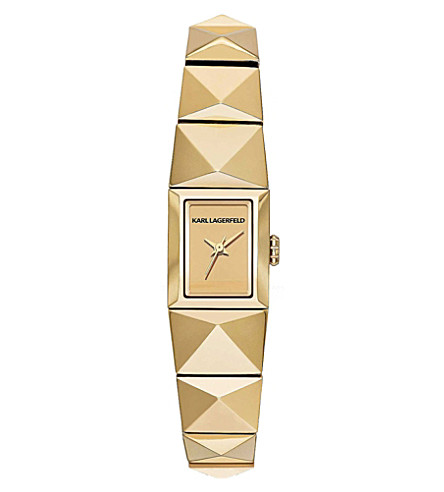 KARL LAGERFELD WATCHES KL2609 gold-toned stainless steel watch (Gold