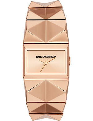 KARL LAGERFELD WATCHES Kl2610 rose gold-toned watch