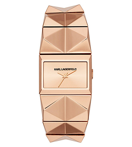 KARL LAGERFELD WATCHES Kl2610 rose gold-toned watch (Rose+gold