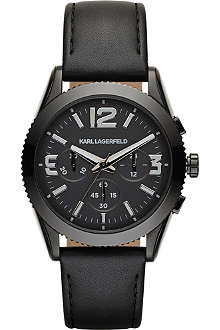KARL LAGERFELD WATCHES KL2804 Kurator leather-strap watch