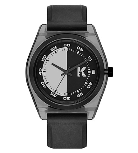 KARL LAGERFELD WATCHES KL3201 Graphik resin and rubber strap watch (Grey