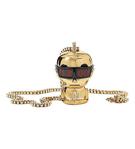 KARL LAGERFELD WATCHES KL9002 unisex gold necklace watch (Gold