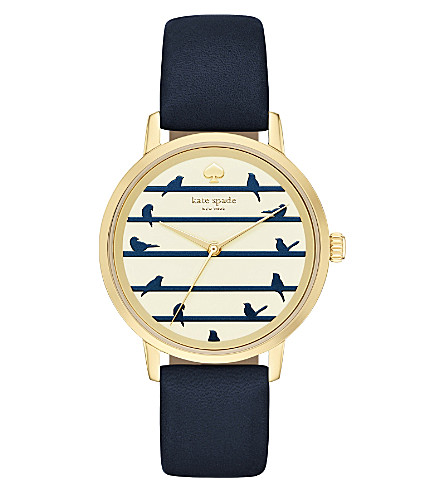 KATE SPADE KSW1059 New York Metro Bird gold-plated watch