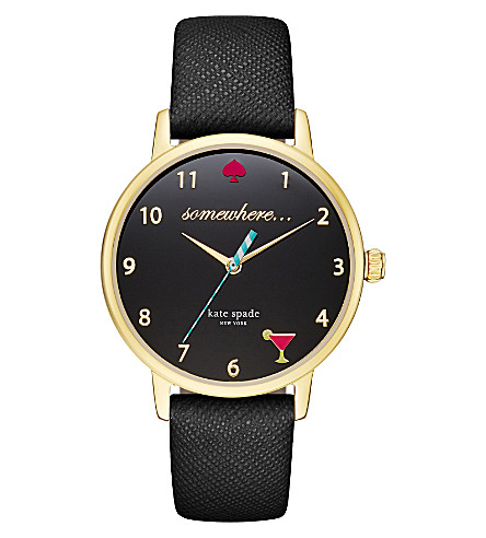 KATE SPADE KSW1039 Metro 5 O'Clock gold-plated watch