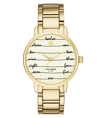 KATE SPADE KSW1060 New York Gramercy gold-tone stainless steel watch