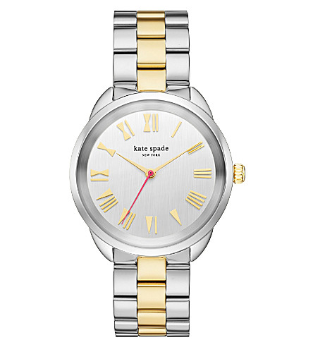 KATE SPADE KSW1062 Crosstown stainless steel and gold watch