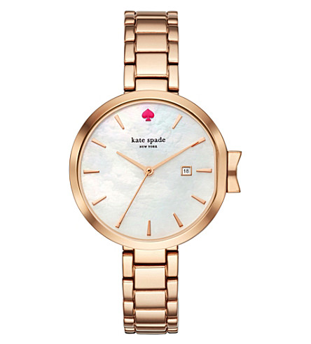 KATE SPADE KSW1323 Park Row gold-plated stainless steel watch