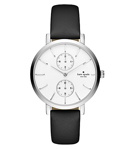 KATE SPADE KSW1333 stainless steel and leather watch