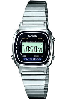 CASIO LA670WEA1EF stainless steel digital watch