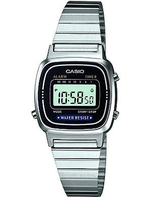 CASIO LA670WEA1EF stainless steel digital watch