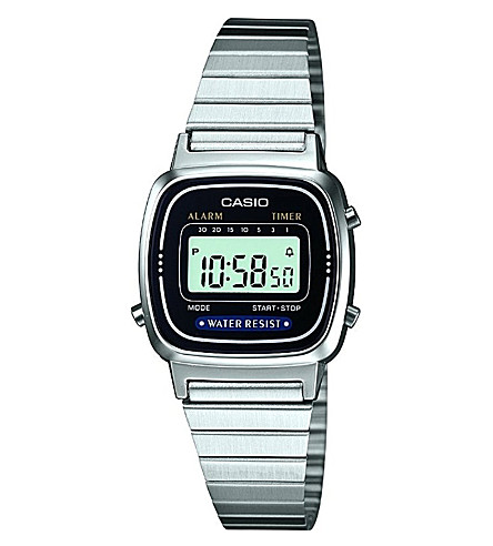 CASIO LA670WEA1EF stainless steel digital watch (Silver