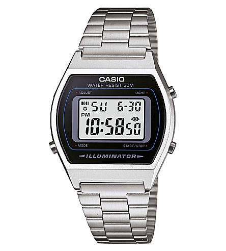 CASIO LA670WEA7EF stainless steel digital watch (Silver