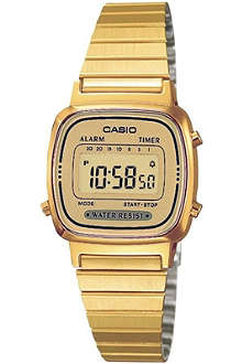 CASIO LA670WEGA9EF gold-plated digital watch