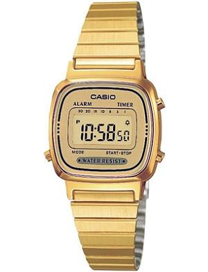 CASIO LA670WEGA9EF gold-plated digital watch