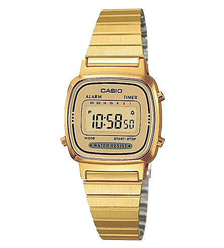 CASIO LA670WEGA9EF gold-plated digital watch (Gold