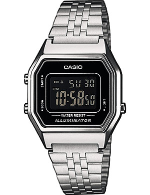 CASIO LA680WEA1BEF silver-plated digital watch