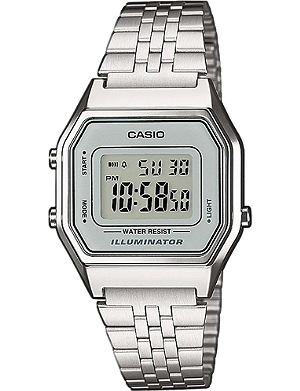 CASIO Unisex silver digital watch