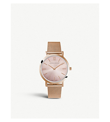 LARSSON & JENNINGS LGN33CMRGCSQPRGPO Lugano Solaris rose gold-plated stainless steel watch