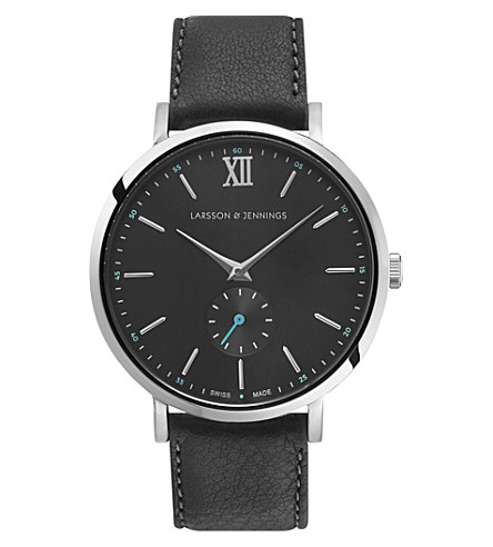 LARSSON & JENNINGS Kulor stainless steel and leather watch