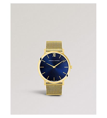LARSSON & JENNINGS LGN40-CMGLD-CS-Q-P-GB-O Lugano Solaris gold-plated stainless steel watch