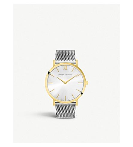 LARSSON & JENNINGS Lugano Solaris yellow gold-plated stainless steel watch