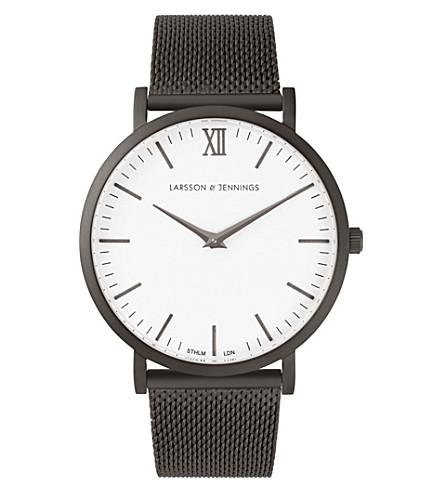 LARSSON & JENNINGS LJ-W-CMANTHR Lugano matte anthracite PVD watch