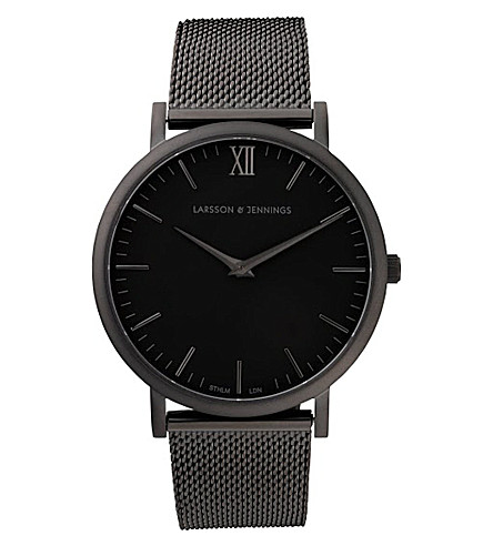 LARSSON & JENNINGS CM Black PVD-plated watch (Black