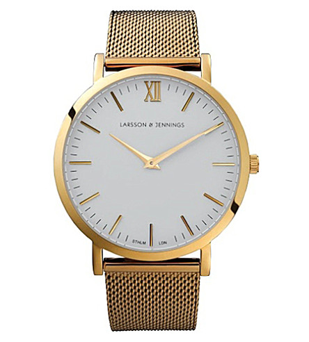 LARSSON & JENNINGS CM Gold polished gold-plated watch (Gold