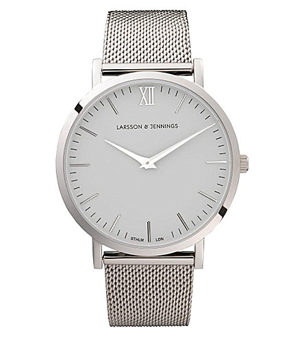 LARSSON & JENNINGS CM Silver stainless steel watch (Silver