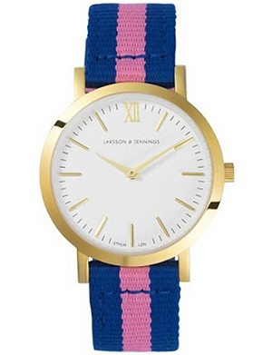 LARSSON & JENNINGS LJWLITCG Liten gold-plated watch