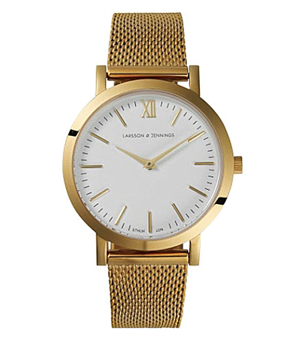 LARSSON & JENNINGS Liten Bernadotte gold-plated watch (Blue+pink